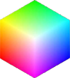 peace cube - icon of peaceful transformation, twin virtual light and colour cubes